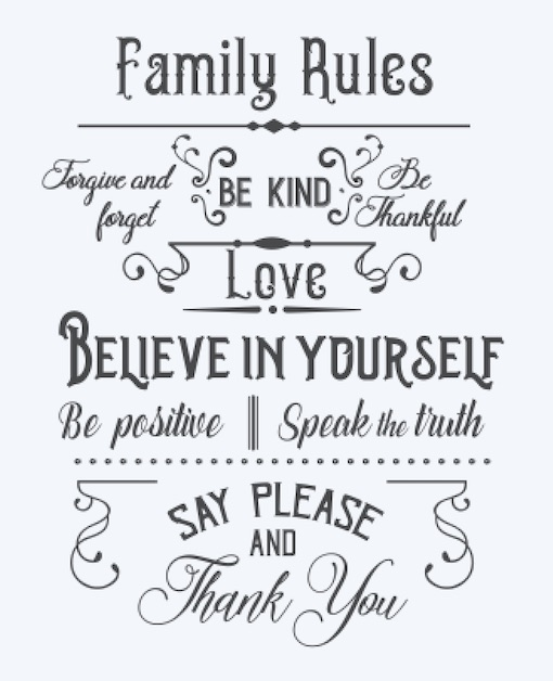 Copy of Family Rules