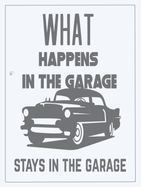 Copy of What happens in the Garage, Car..