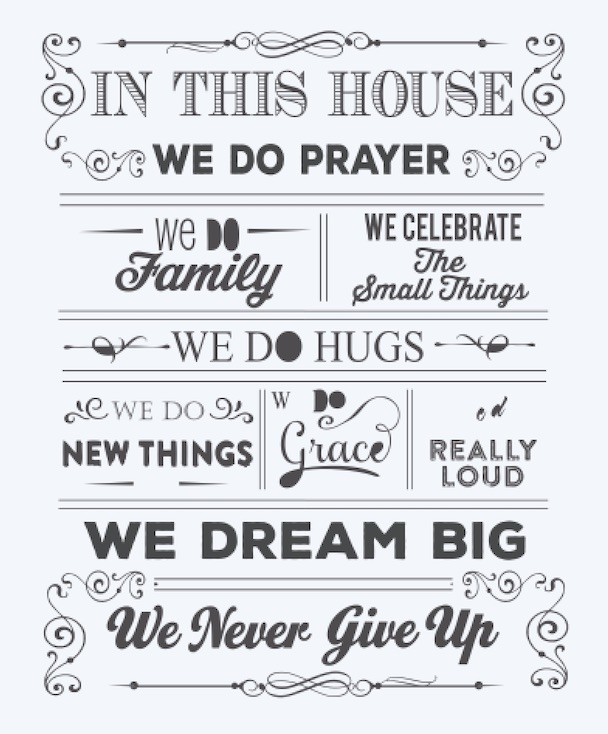 Copy of In this house we do prayer..