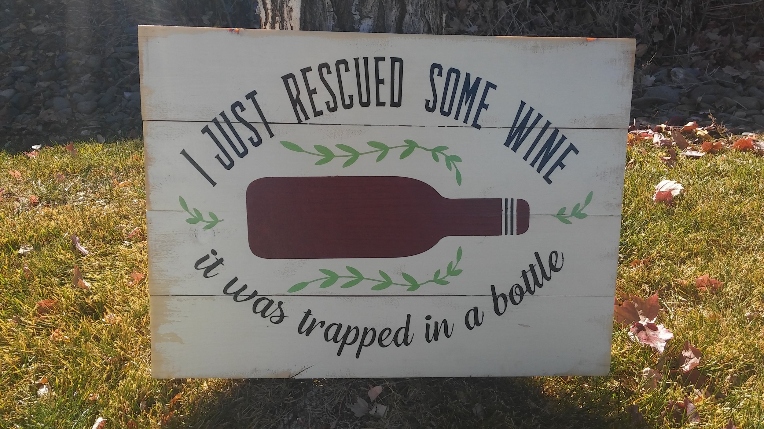 I just rescued some wine..