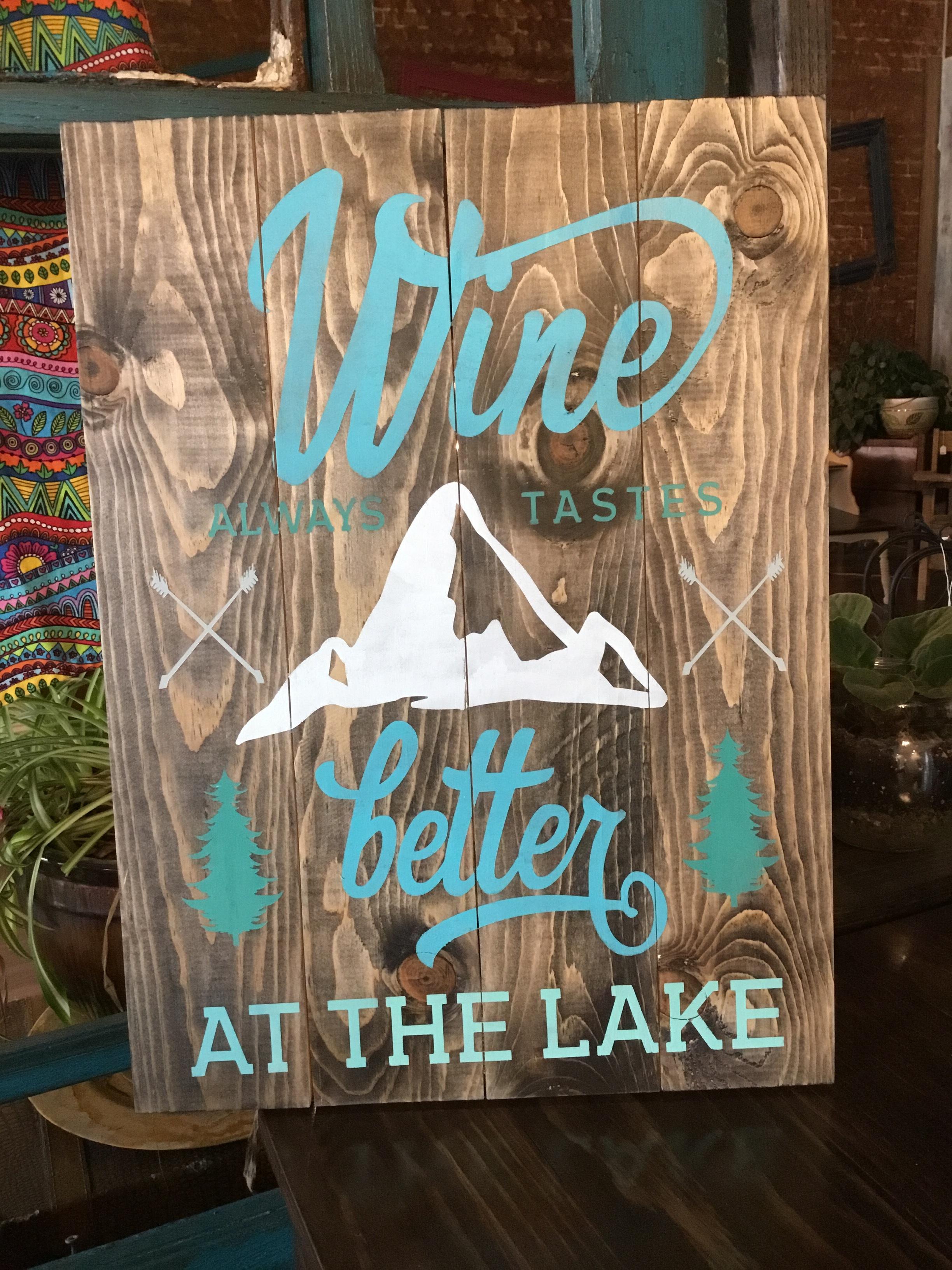 Wine always tastes better..lake