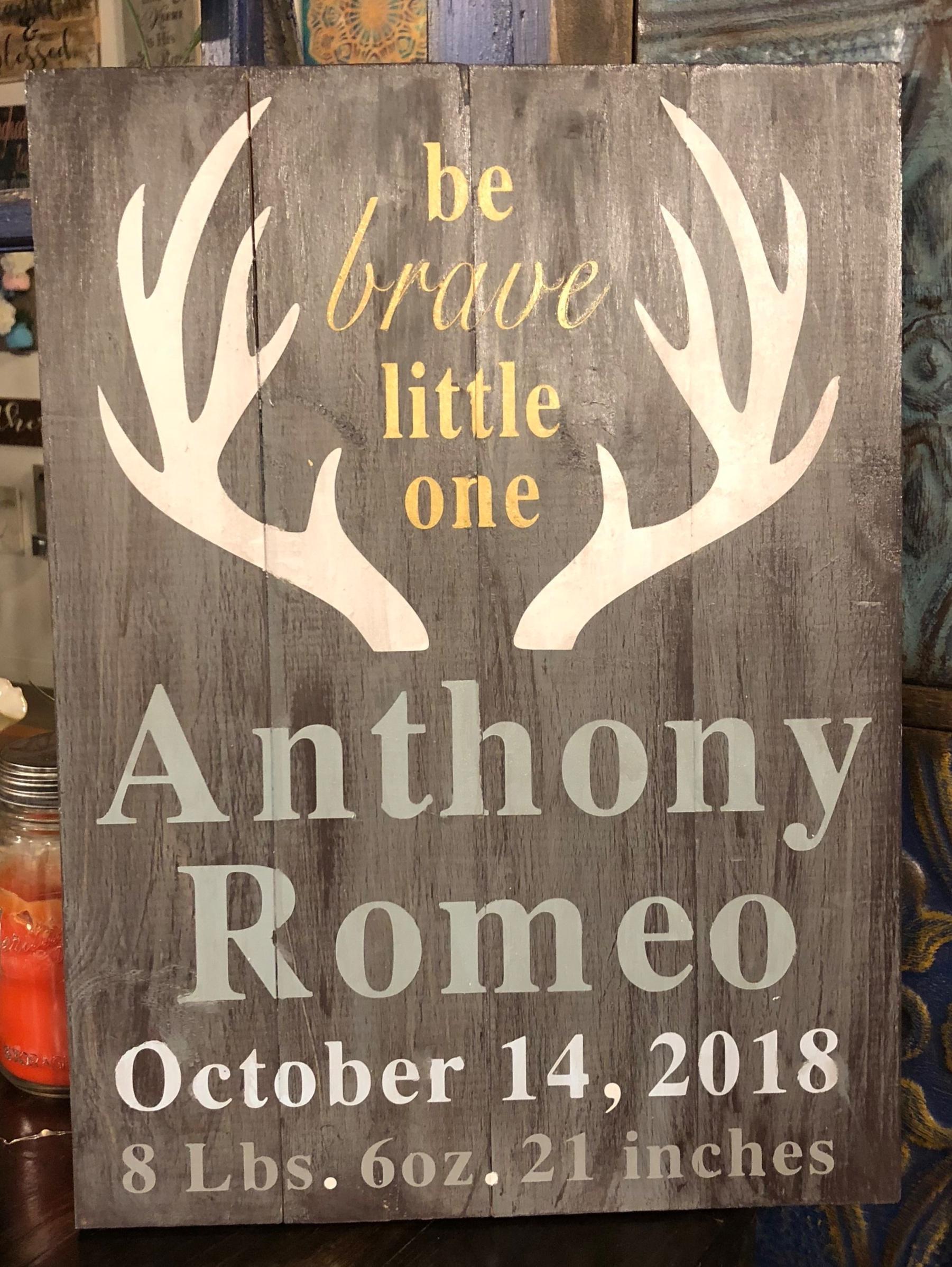 Antler Birth announcement