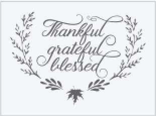 Thankful Gratefull Blessed