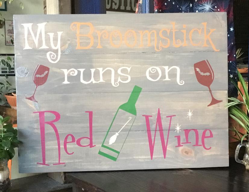 My Broomstick runs on Red Wine