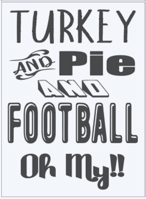 Turkey Pie and Football Oh My!!