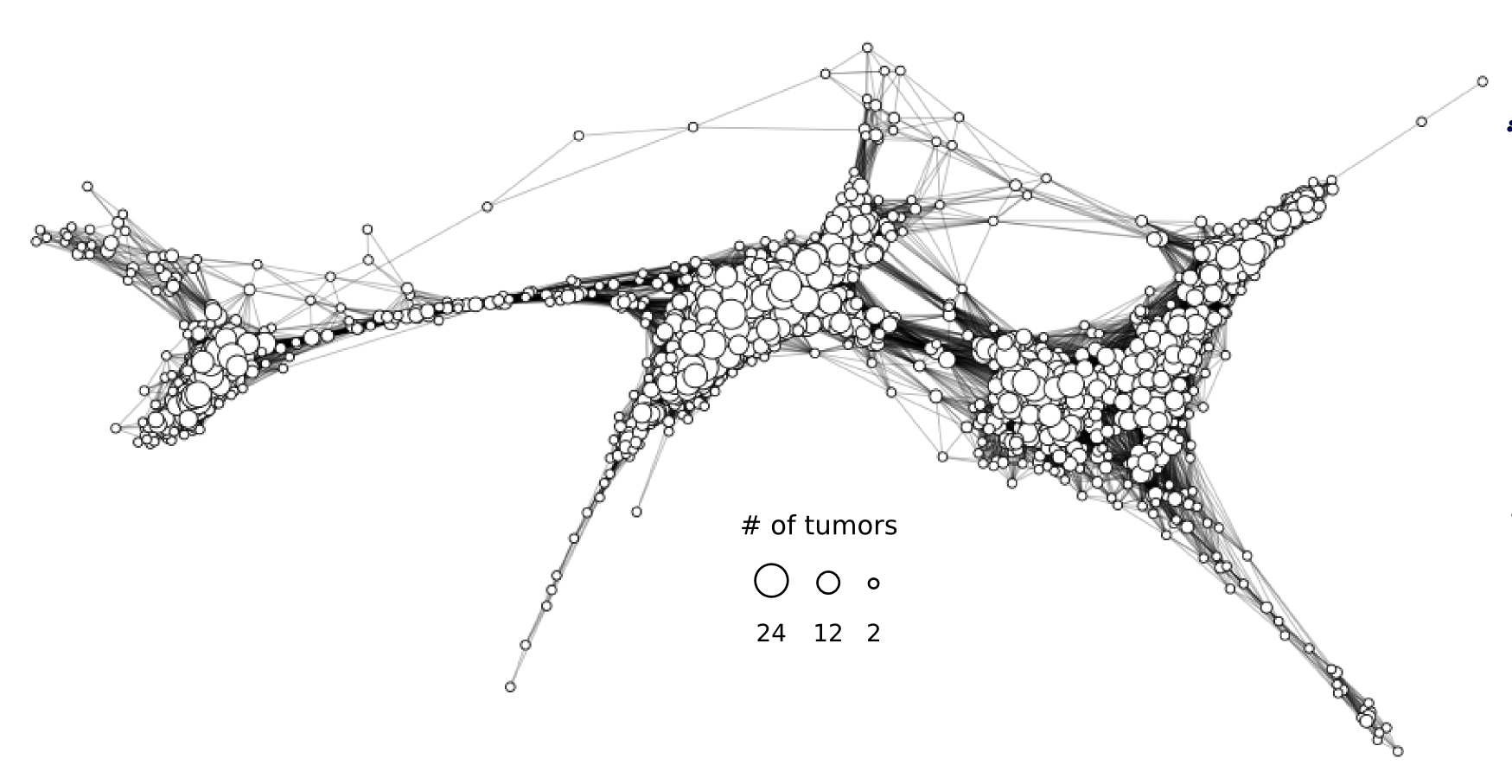 Topological reconstruction of the expression space of low-grade glioma