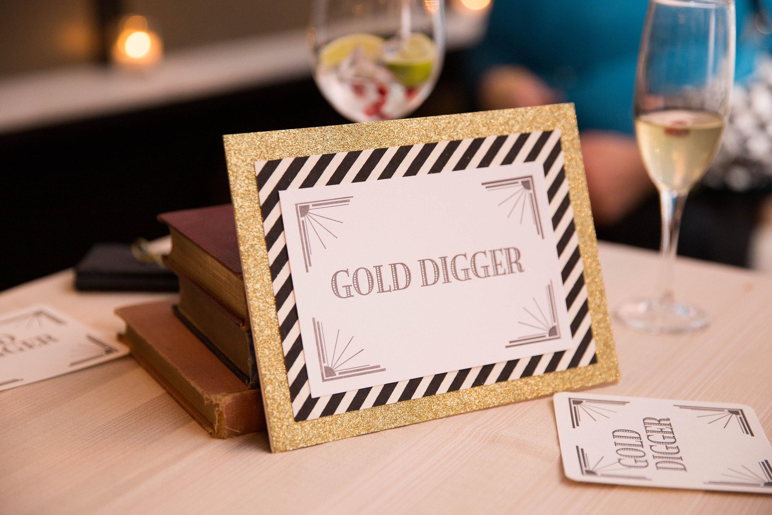 Gold digger sign