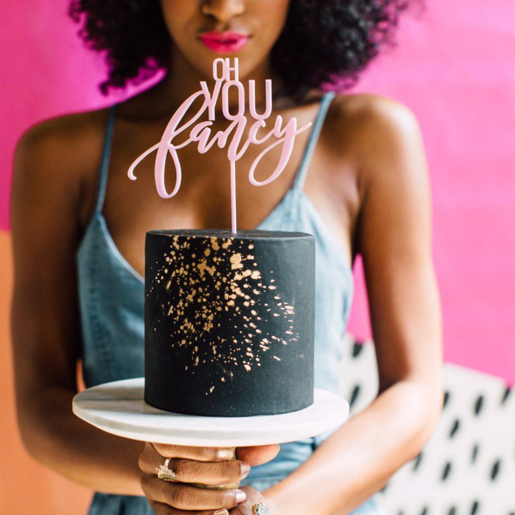 Fancy Cake topper