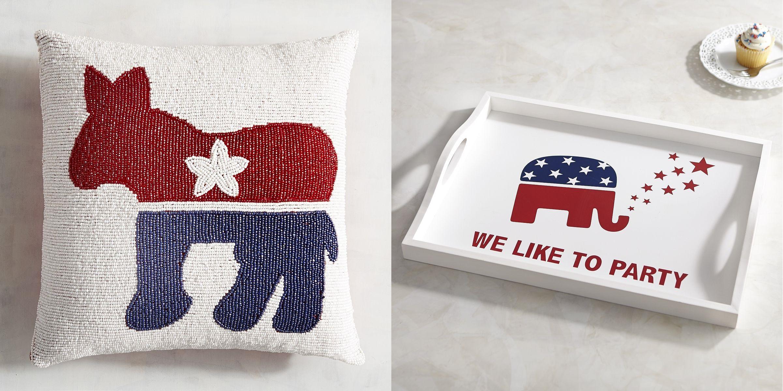 Democrat decorative pillows