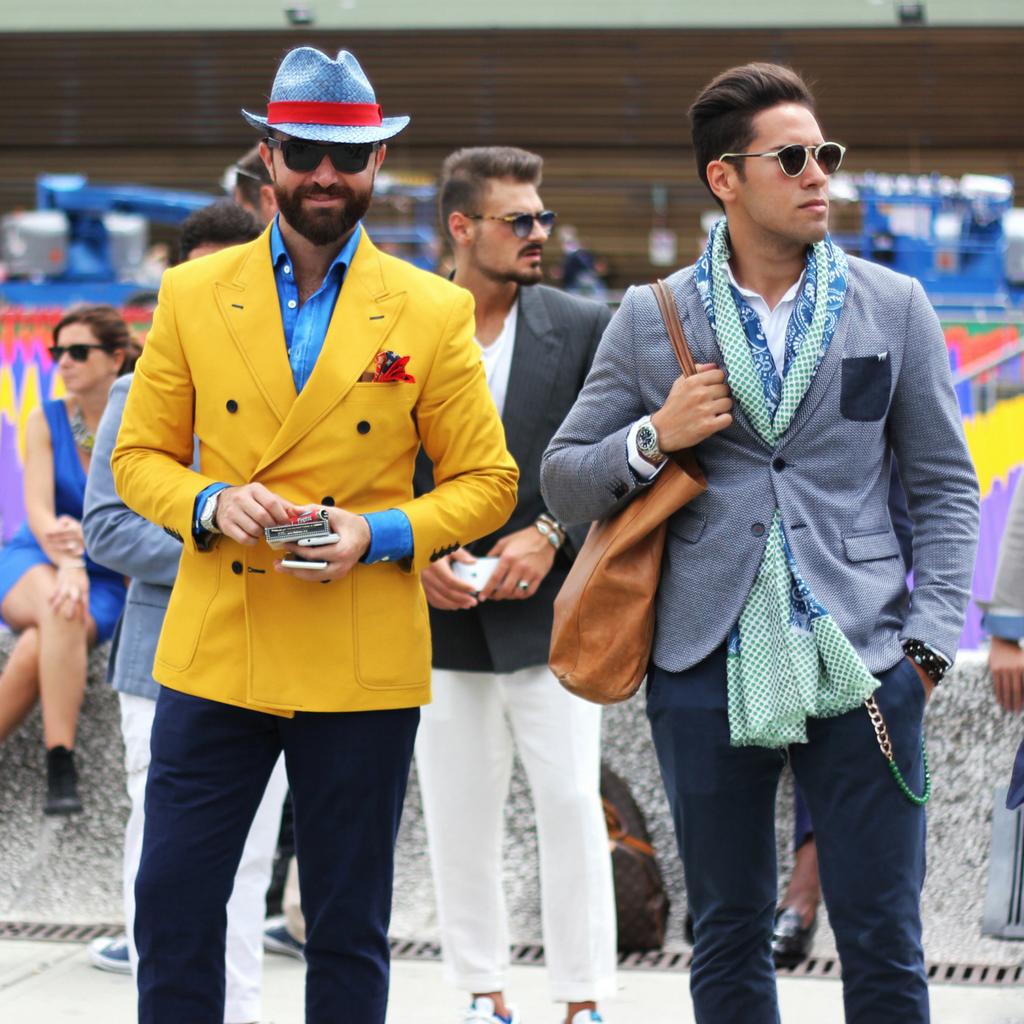 Mariya Georgieva - Men in colorful suits at Fortezza de Basso