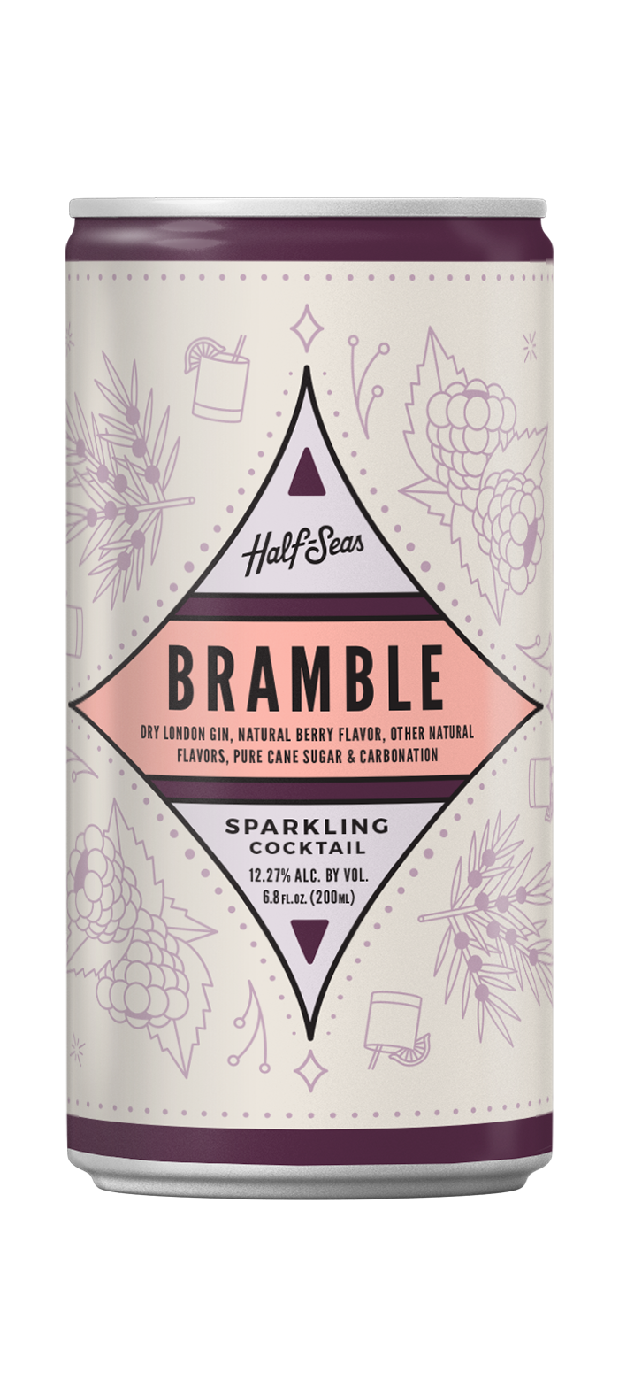 bramble gin cocktail in a can
