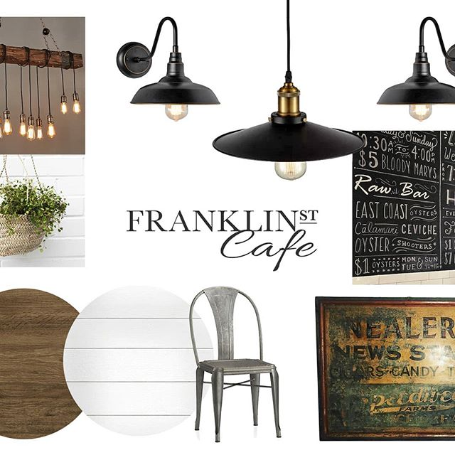 Having a blast working with @franklinstcafe! Going to work in some faux leather tones for warmth too. I'll take pics along the way for you! #tabonehome