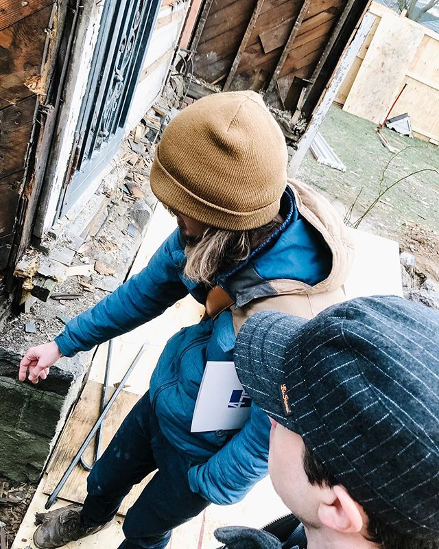Onsite in Brooklyn with Nick Shaw from 475 at Greg Duncan's historic retrofit passive house project. We walked through it together discussing solutions for all the tricky connections. ⠀ .⠀ .⠀ .⠀ .⠀ .⠀ .⠀ .⠀ .⠀ ⠀ .⠀ .⠀ .⠀ .⠀ .⠀ #passivehouse #architecture #energyefficient #home #energyefficiency #greenbuilding #sustainability #triplepane #curbappeal #passivhaus #windows #design #construction #buildingscience #brooklyn #retrofit ⠀ ⠀