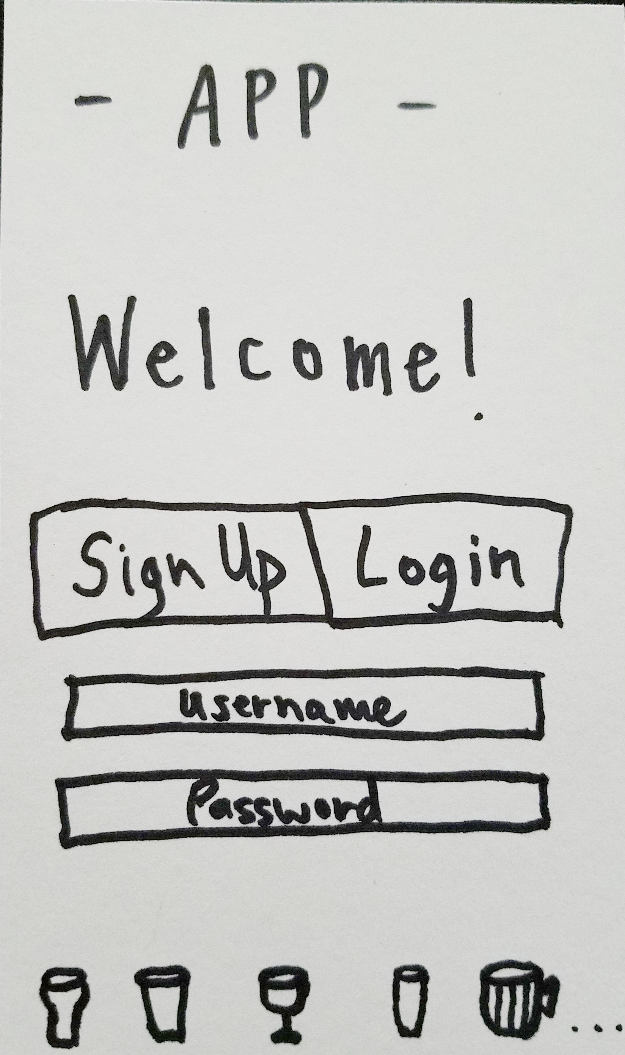 App Welcome Sketch