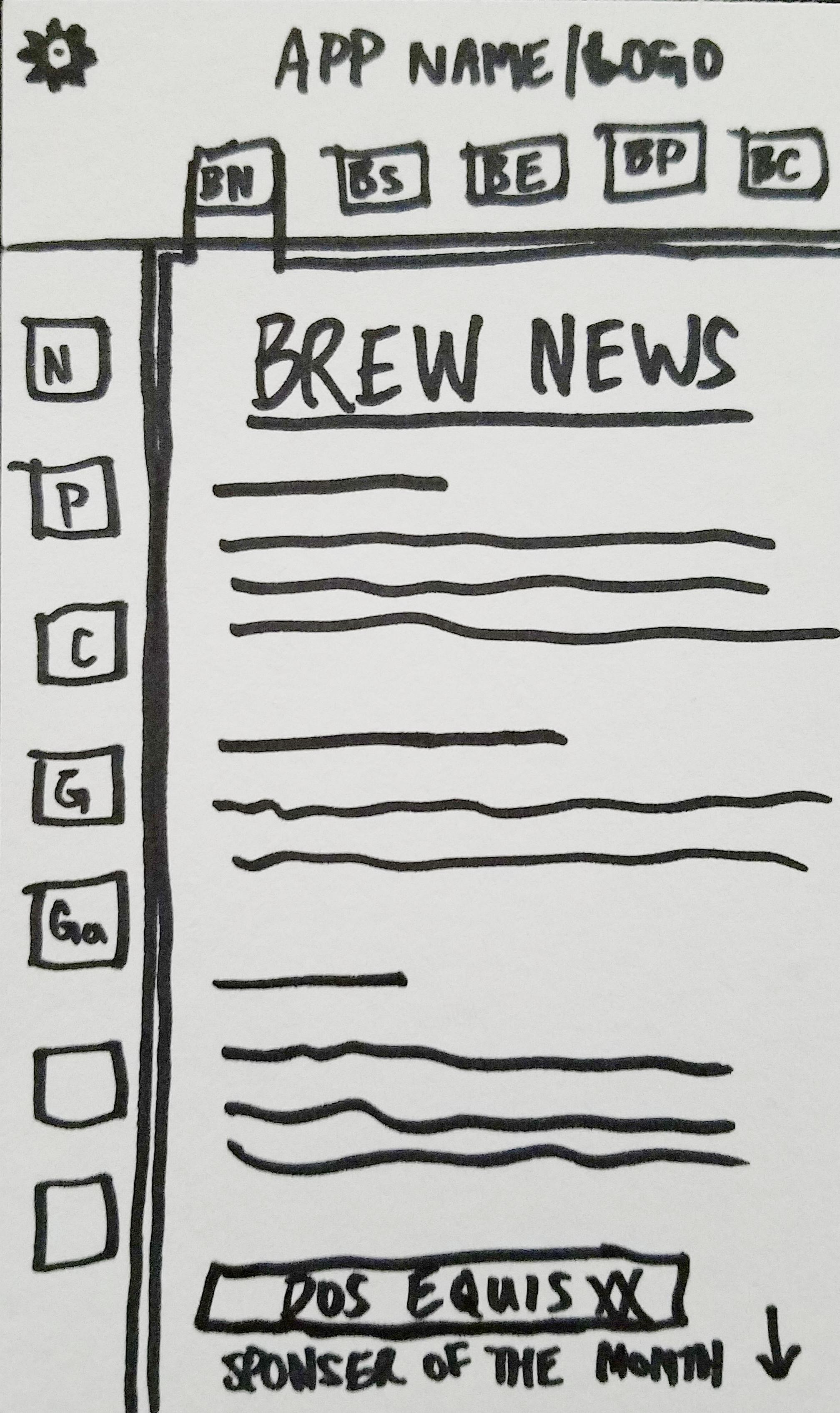 Brew News Sketch