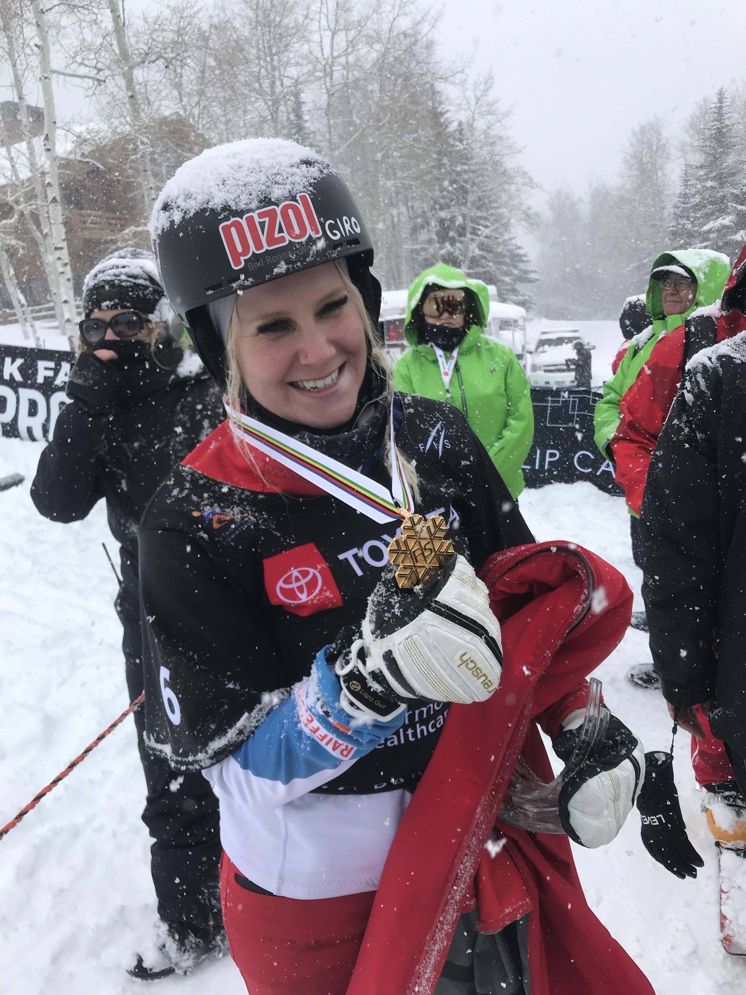 Weltmeisterin Julie Zogg.