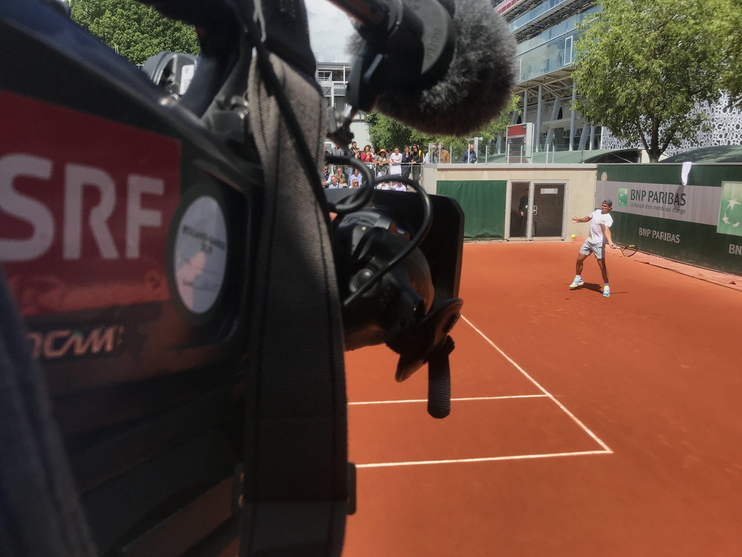 Rafael Nadal im Training