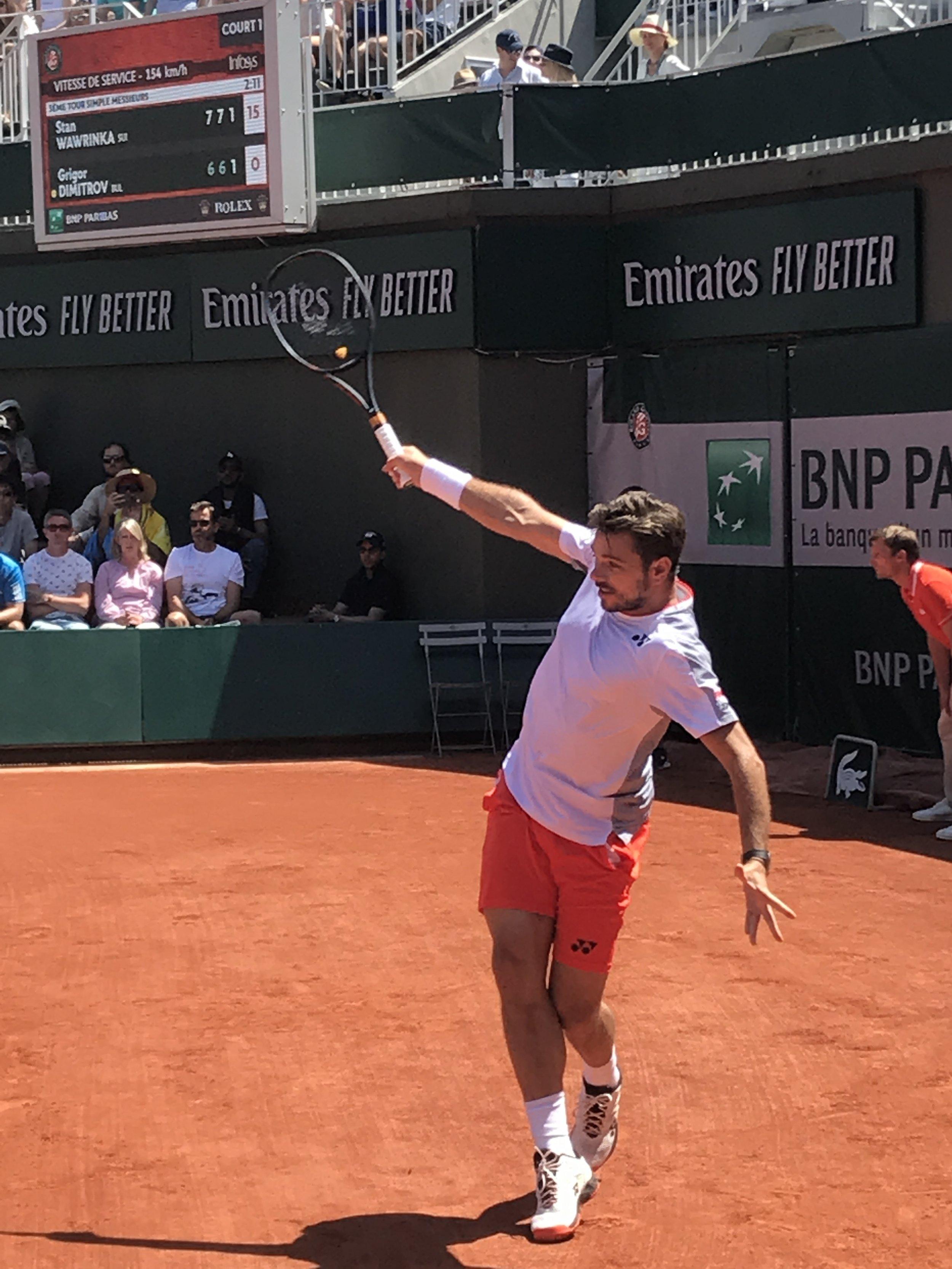 Wawrinka auf Court No. 1