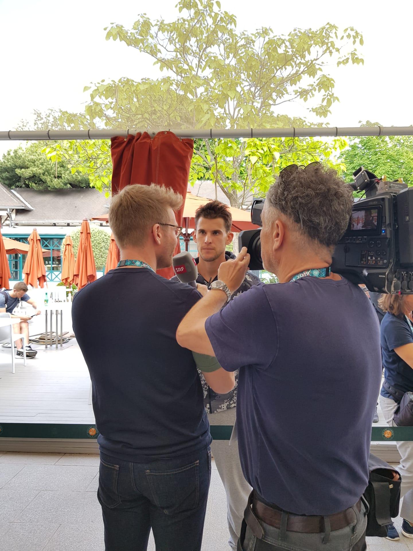 Dominic Thiem am Media Day