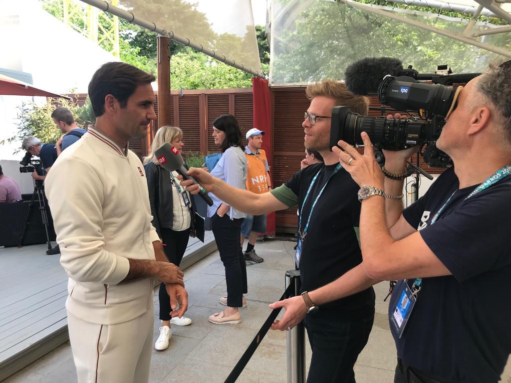 Roger Federer am Media Day