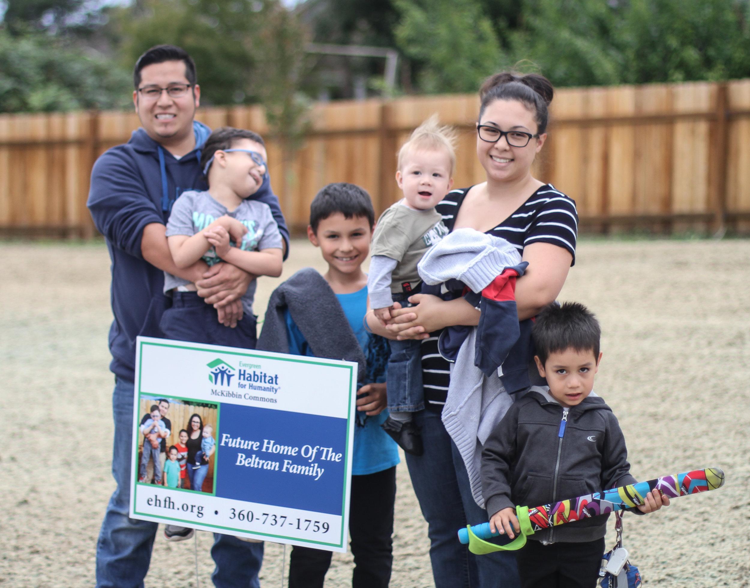 Meet the Beltran Family Future Evergreen Habitat Homeowners
