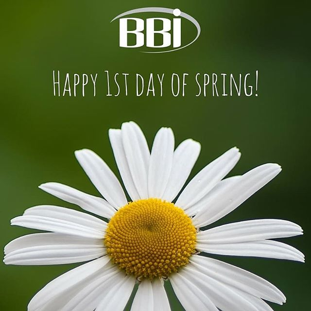 The weather is changing as the flowers are blooming. The reason being is because today is the 1st day of spring. Happy 1st day of spring from everyone here at BBI!  #springtime