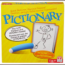 Count on big laughs when you and your friends get together to find out who's an artist and who really isn't! In this quick-draw classic, the guesses can be just as hilarious as the sketches, making it the perfect way to get the party started. Pictionary now includes two erasable markers, boards for drawing, and an updated Pop Culture category of clues $34