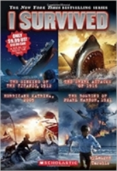 Lauren Tarshis brings history's most exciting and terrifying events to life in the thrilling I SURVIVED series. This edition has the first 4 books, about kids surviving sinking ships, shark attacks, a hurricane and the bombing that launched the United States into World War II.  $9.99