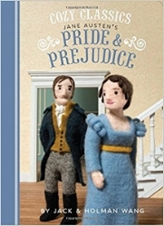Cozy Classics Board Books - great literature retold with felt dolls and only one word per page. Genius. Titles include Pride & Prejudice, Moby Dick, Jane Eyre, Les Miserables, and more. $9.95