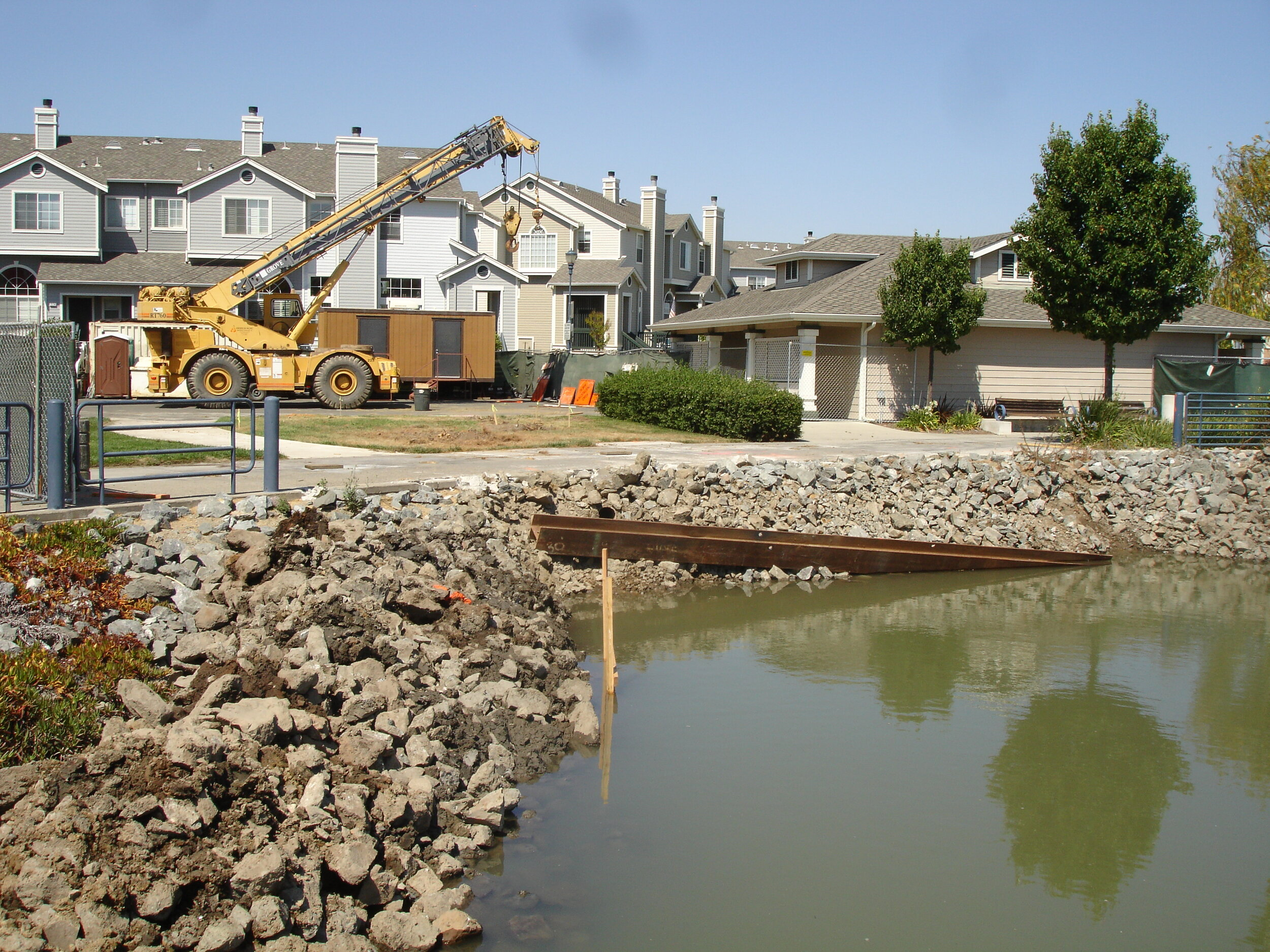 STORM DRAINAGE AND HYDROLOGY  During the construction of a new residential development in an area already prone to frequent flooding, it came to the City of Benicia's attention the existing 66-inch storm drain system on East Second Street was extensively deteriorated.