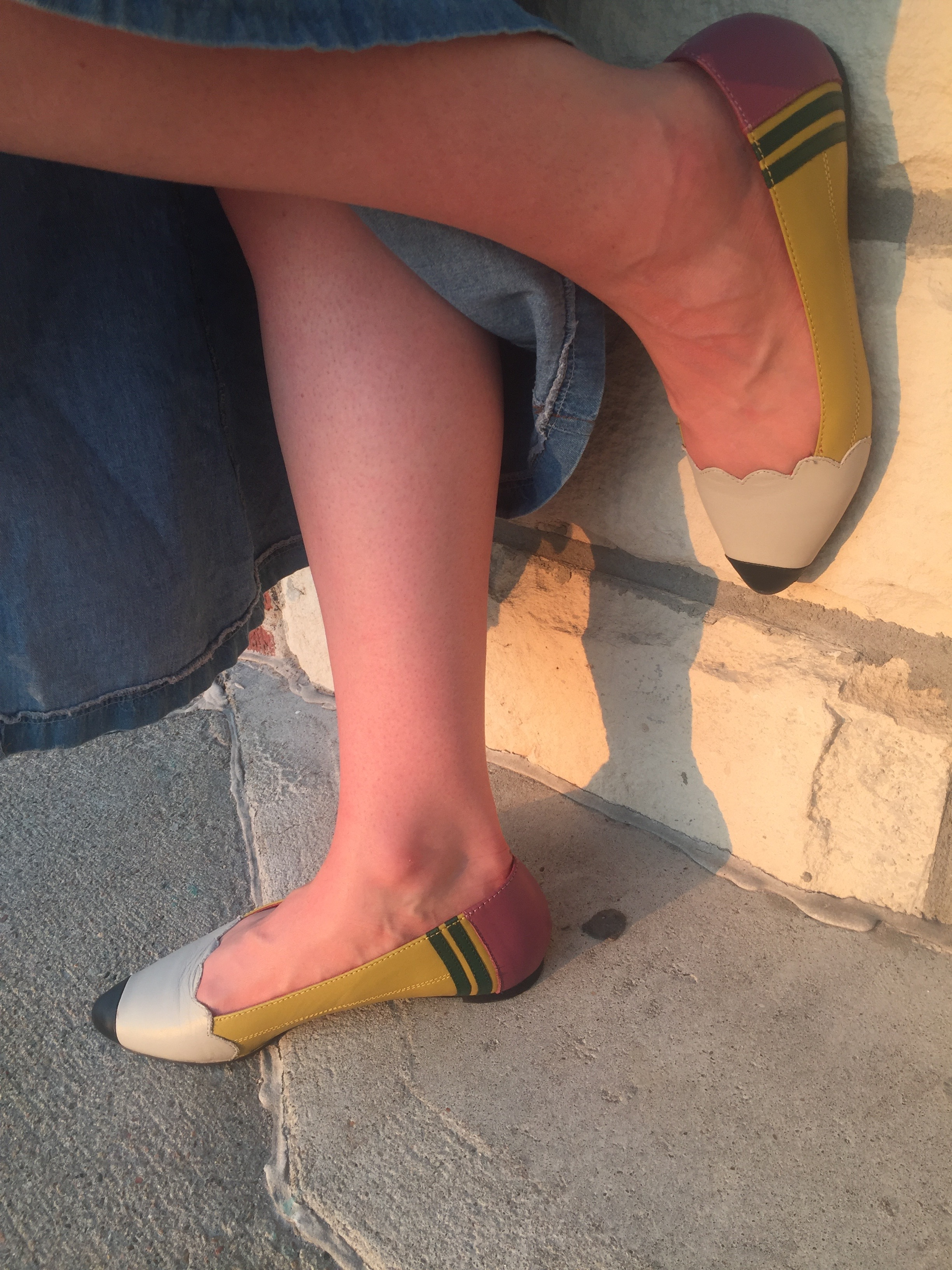 These pencil shoes are my fave. My students  lose their minds  when I wear these to school.