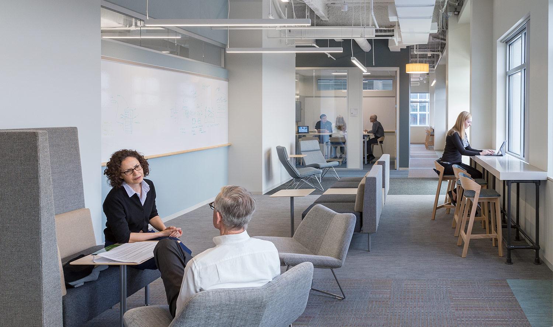 Agile team meeting area