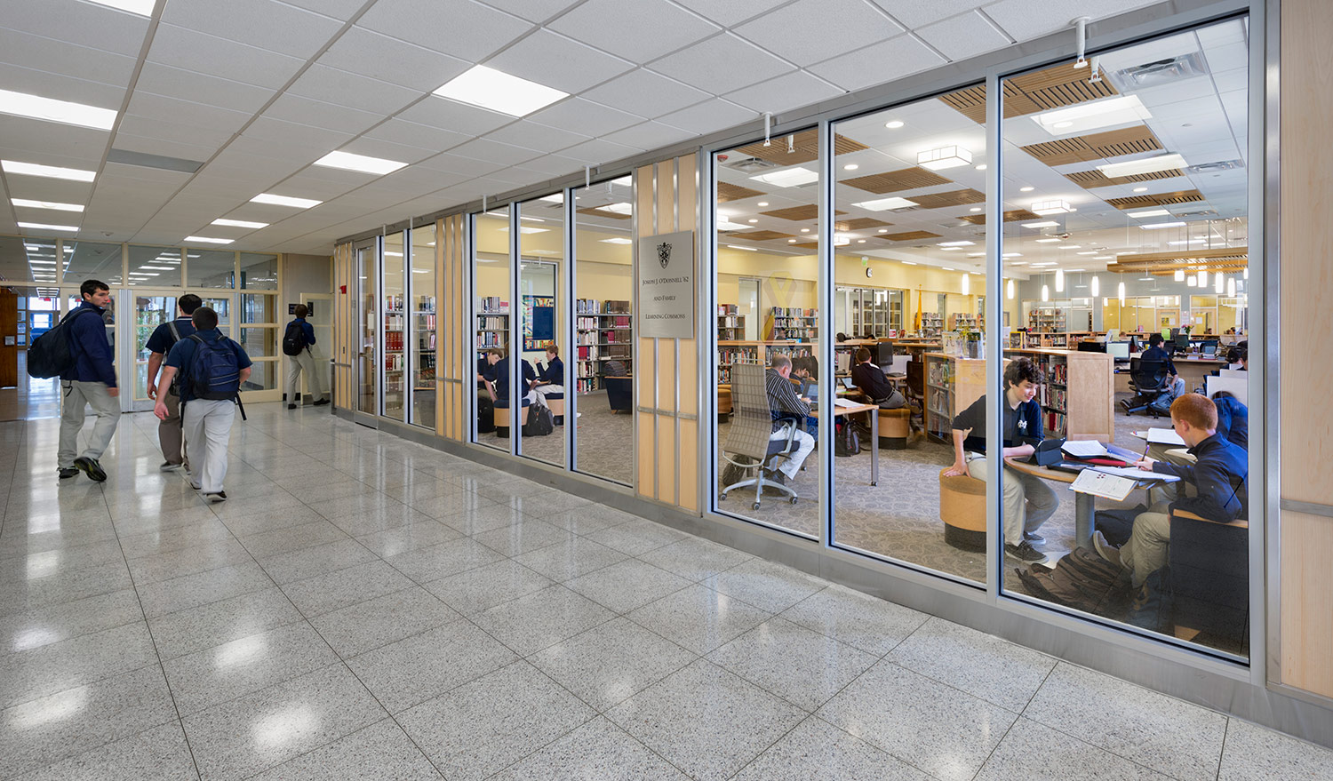 New windows into the Learning Commons reveals the activities within.
