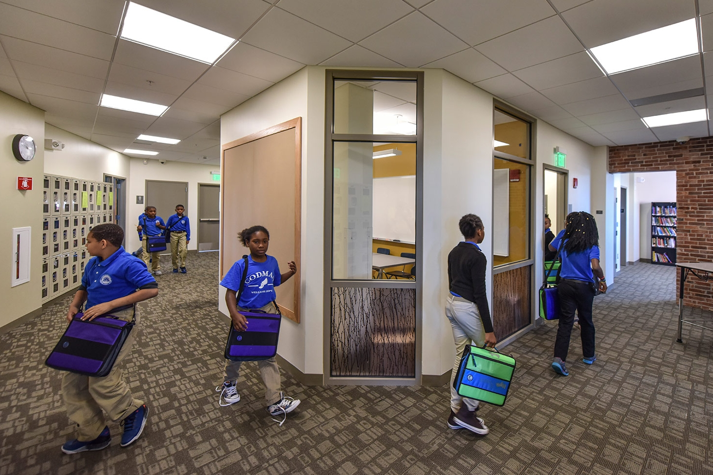 Elements of nature are woven throughout the school
