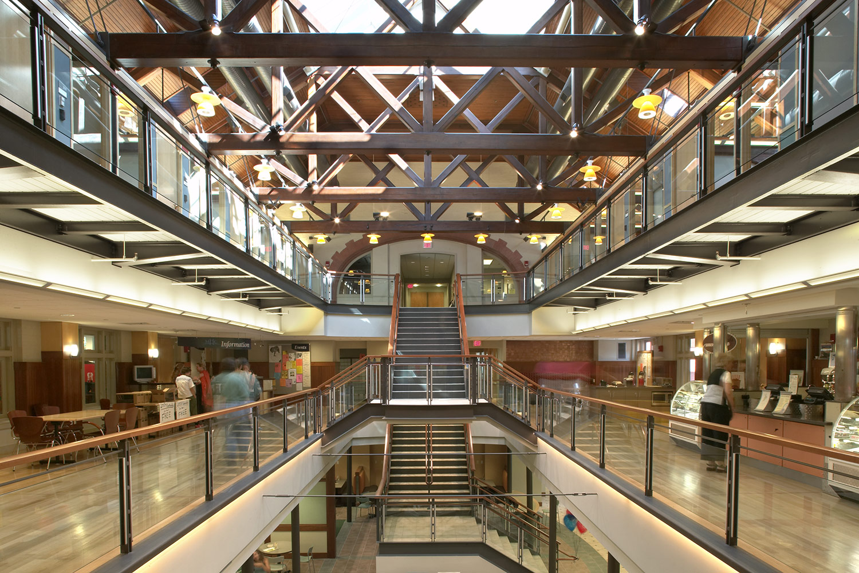 Skylit atrium within the original 1901 building