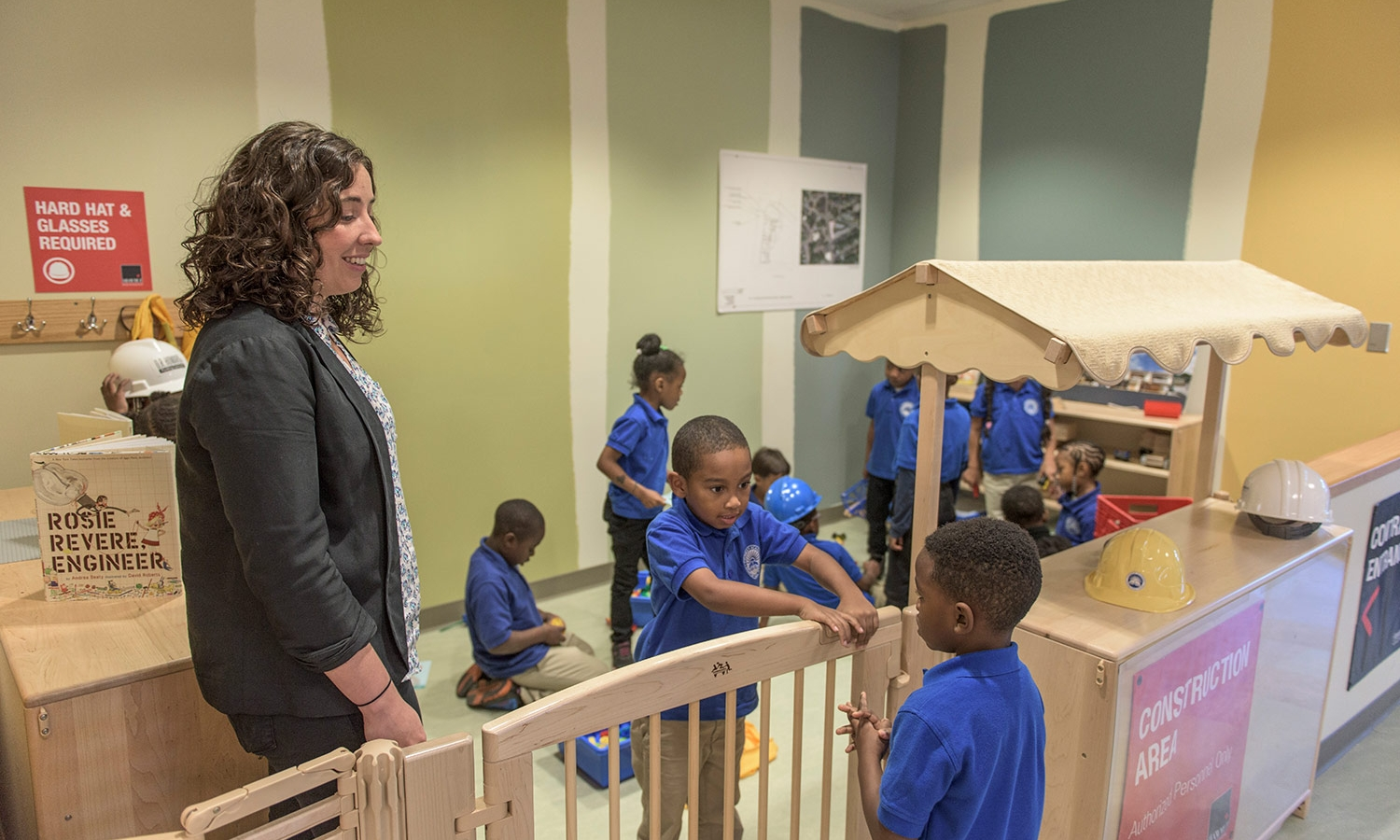 Construction themed play area