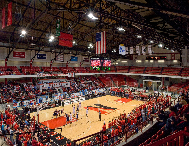 Matthews Arena supporting basketball