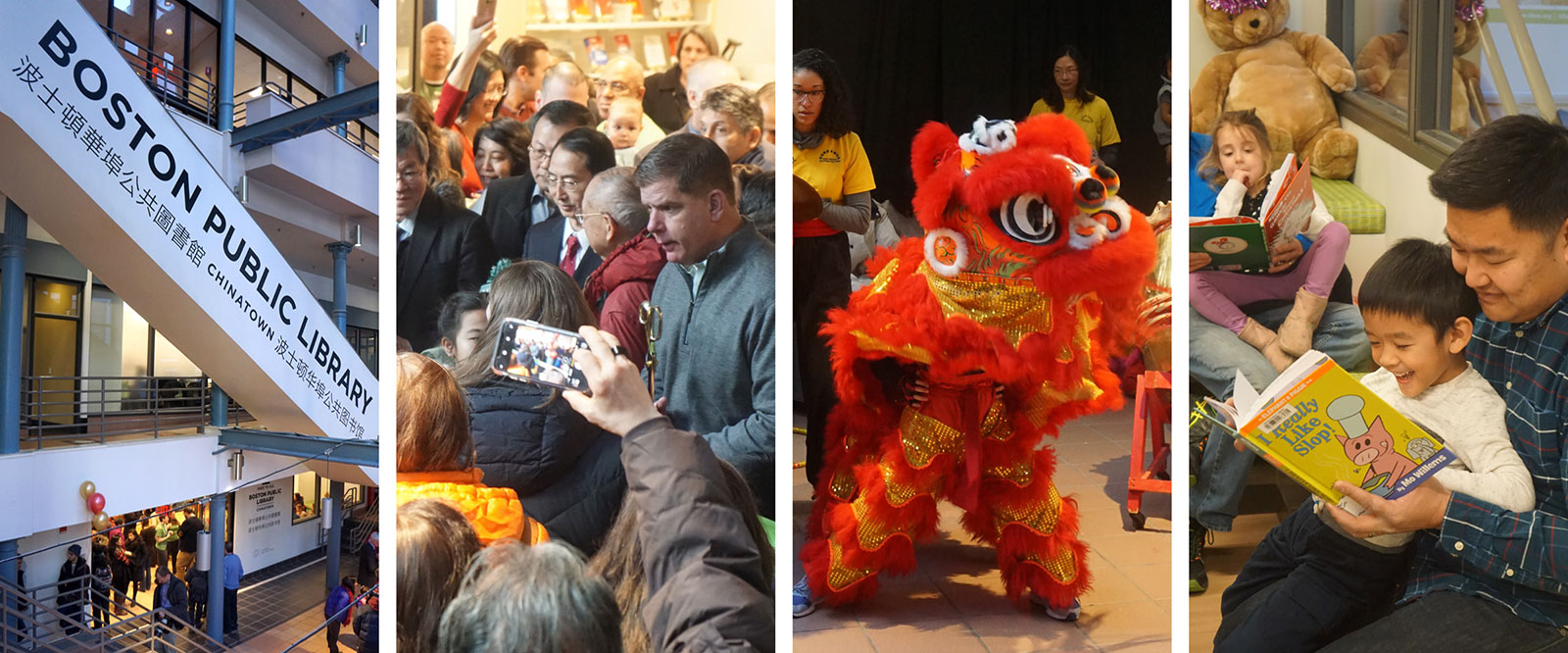Dedication Ceremony for the Boston Public Library Temporary Chinatown Branch Library in the China Trace Center