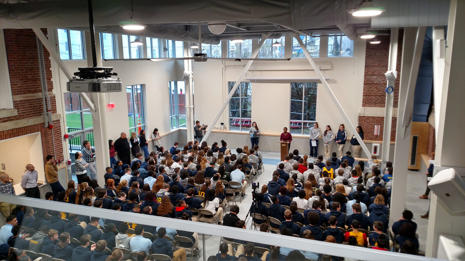 School Assembly in the Commons