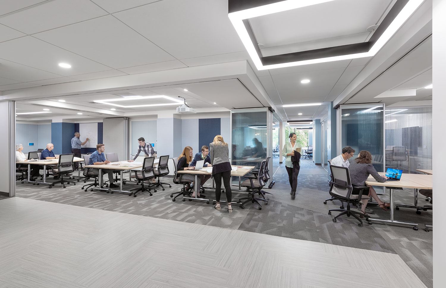 Research Administration Conference Rooms with flexible walls open