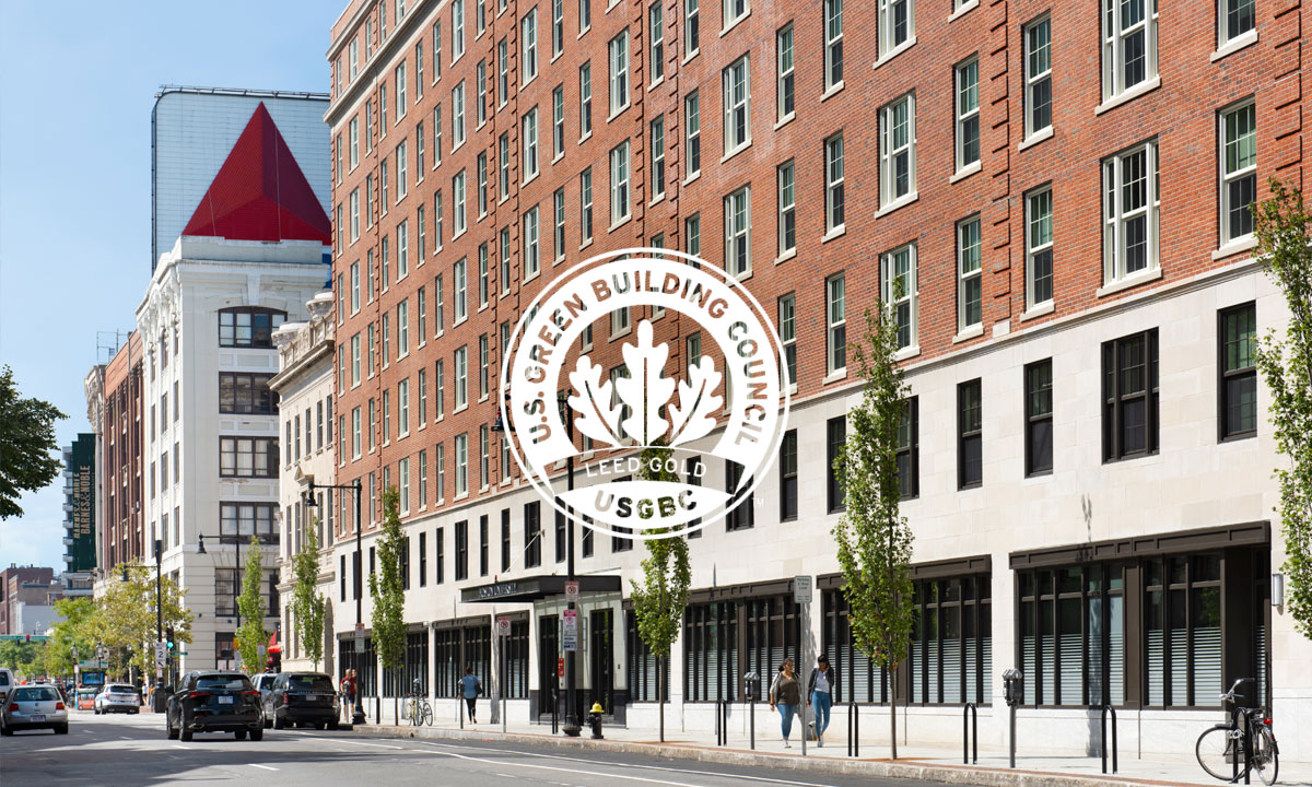 Our Renovation of Boston University's Myles Standish Hall is LEED-Gold certified - Our comprehensive renovation of Boston University's Myles Standish Hall achieved LEED Gold certification. The renewed building was designed to use approximately 40% less energy than a baseline building. Read more.