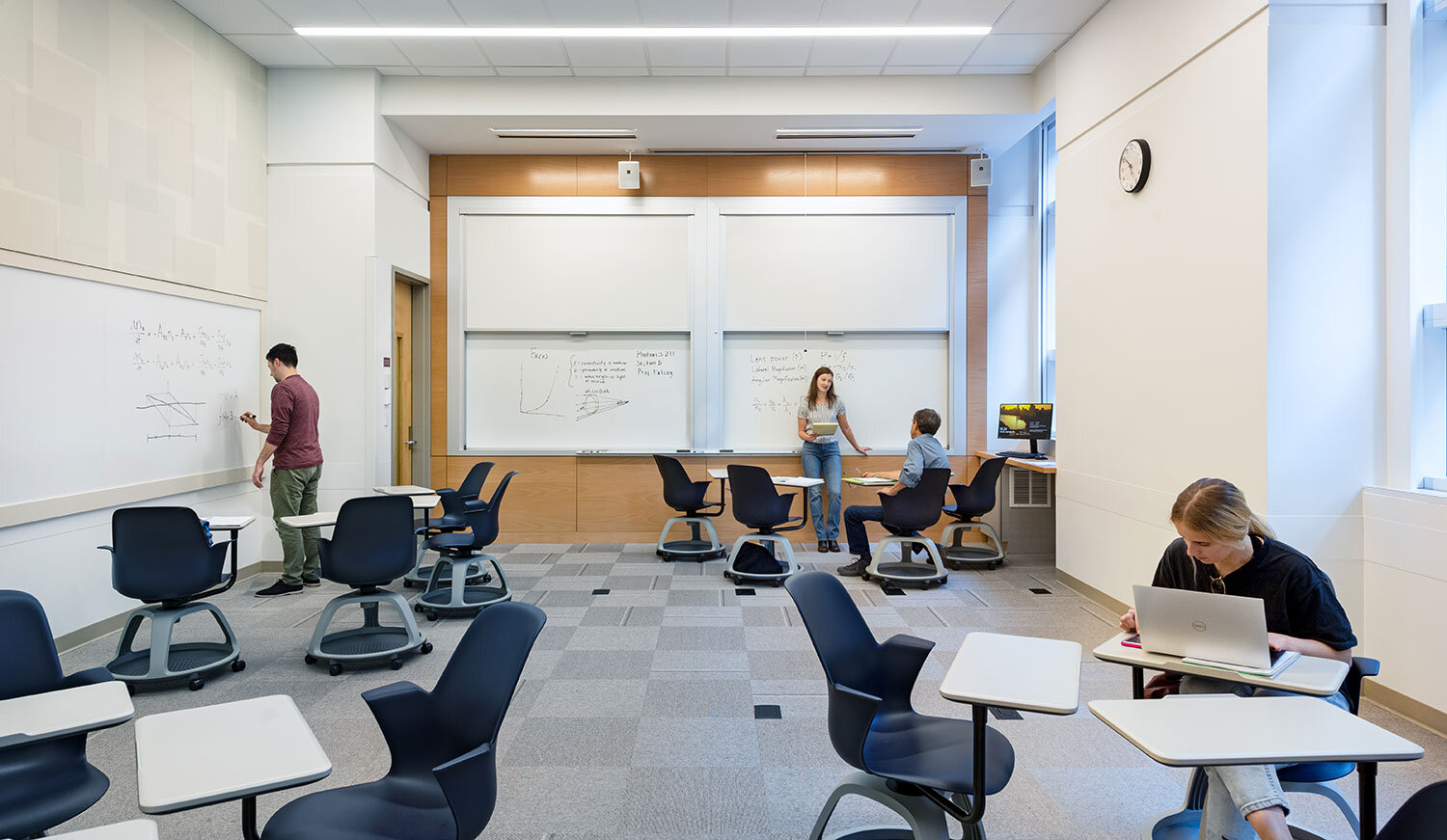 Classroom with movable furniture