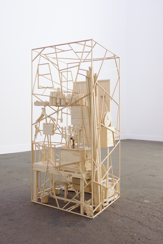 Workspace 2016, wood, 60 x 26 x 26 cm