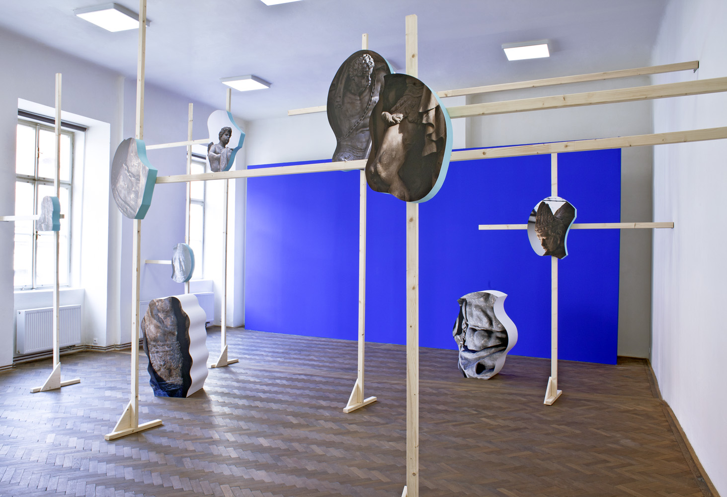 Bluescreen for Brokoff 2016, installation, direct print on forex, extruded polystyrene, various dimensions
