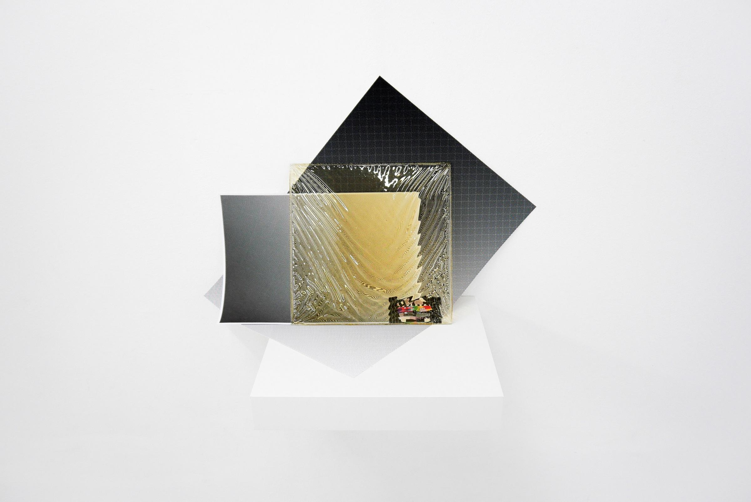 Distorting Filter, 2016, variable size, inkjet prints, glass, enamel, polaroid photo