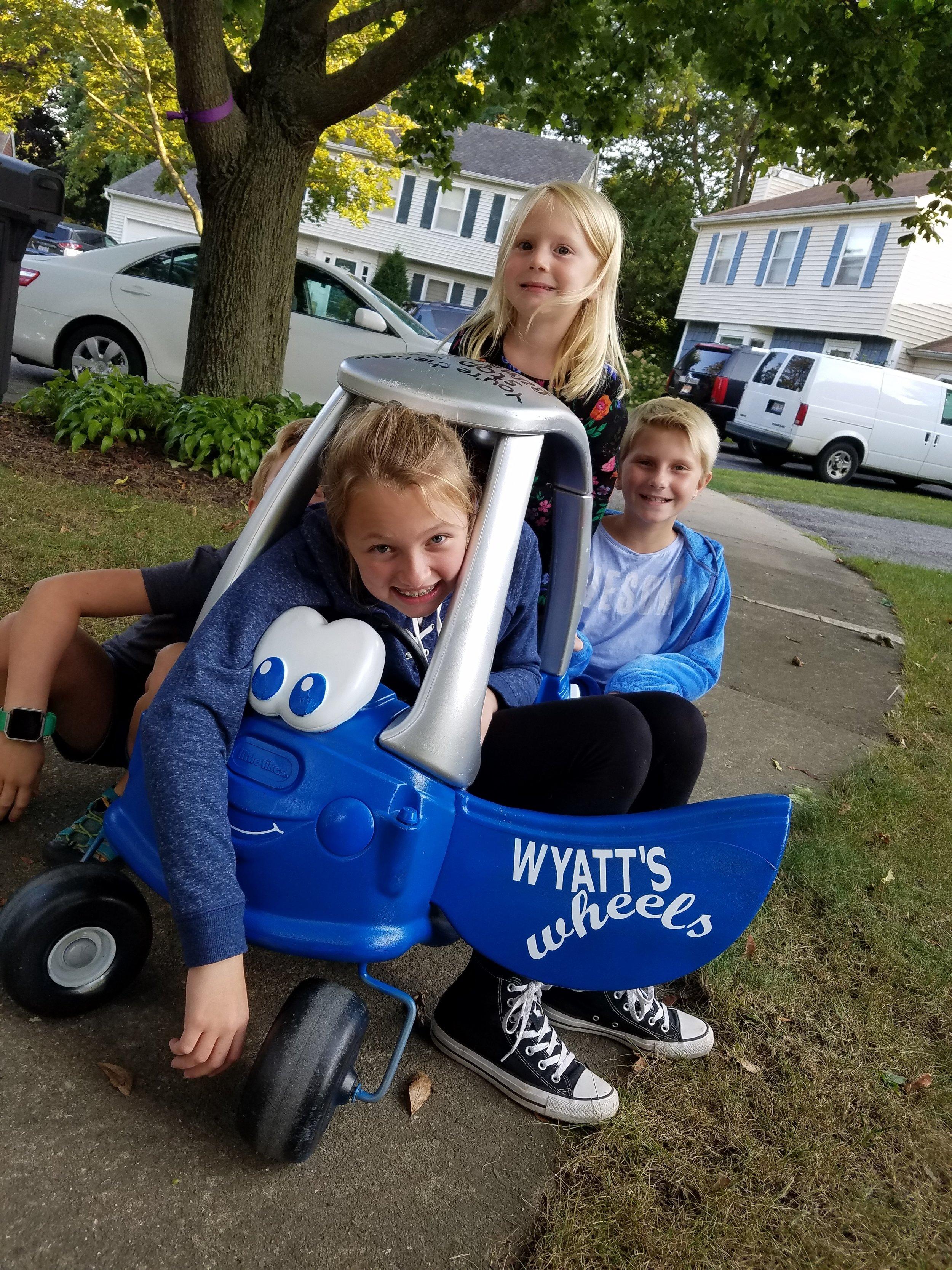 Wyatt's Wheels at His Next Stop