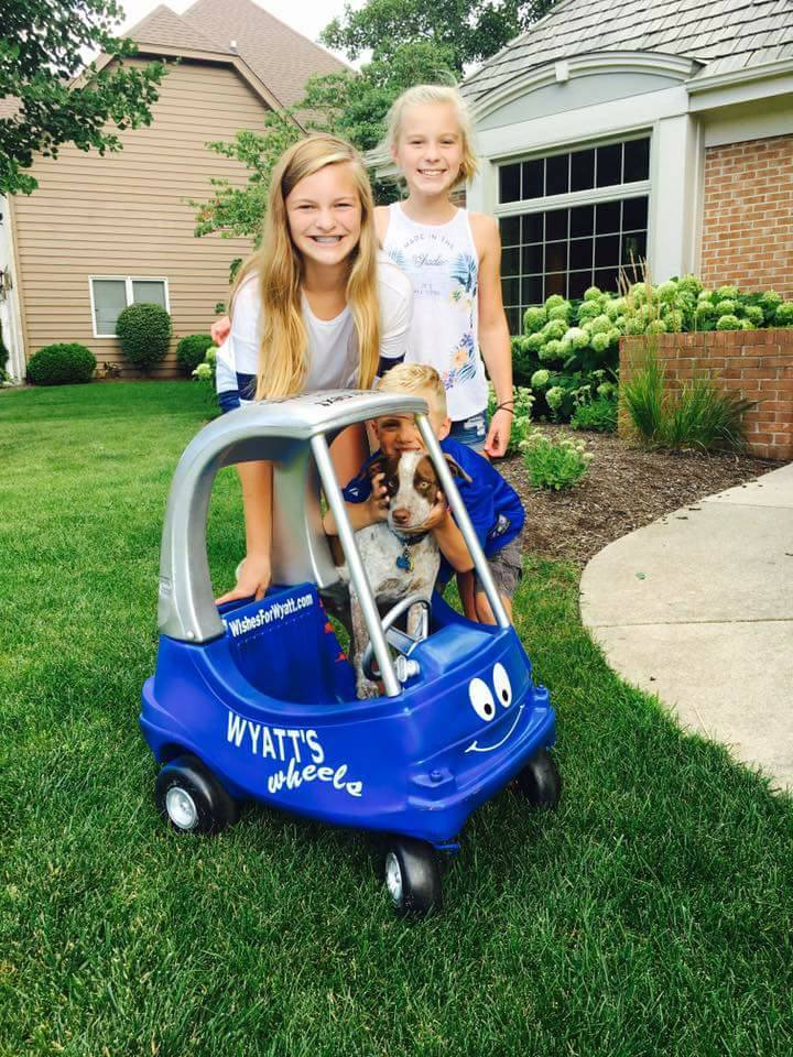 Wyatt's Wheels at His Next Stop
