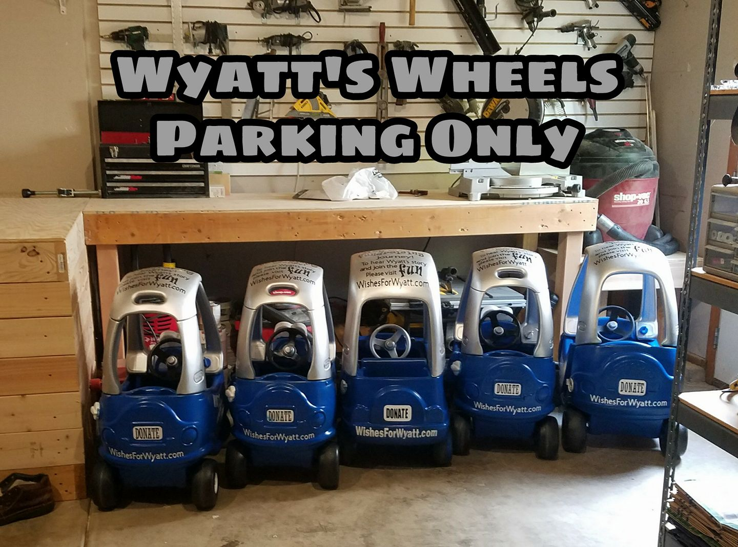 Wyatt's Wheels ready to Start their Journey!