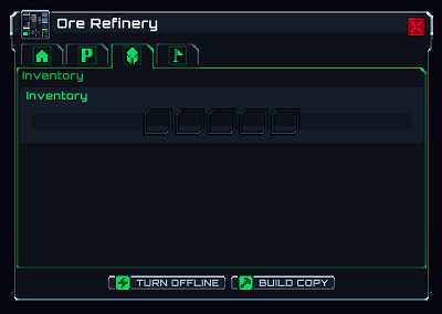 An ore refinery without any resources.