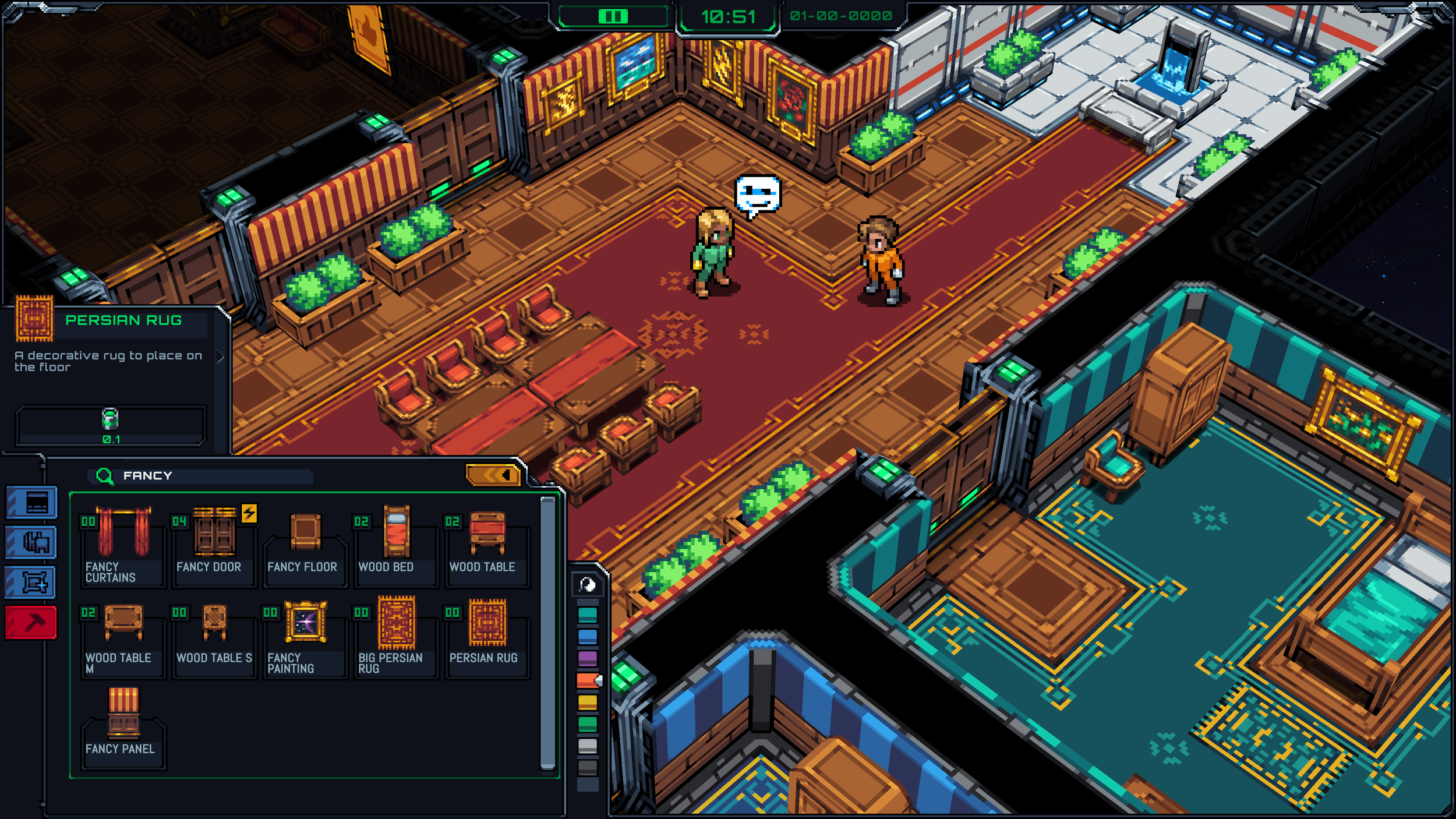 Self-Expression and upgrades is a core idea of Starmancer.